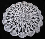 vintage antique handmade crochet lace doily