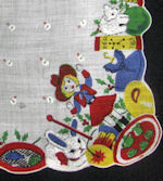 vintage collectible childs print hanky
