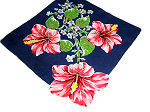 vintage collectible floral print hanky