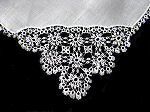 vintage collectible Irish linen hanky tatted lace