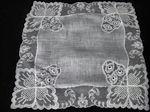vintage limerick lace collectible wedding hankie