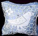 vintage figural lace pillow front