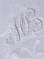 vintage monogrammed towel 2