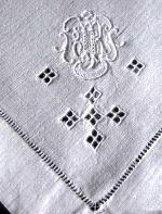 vintage monogrammed towel