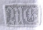filet crochet monogram