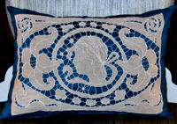 after version vintage cutwork figural lace pillow cover